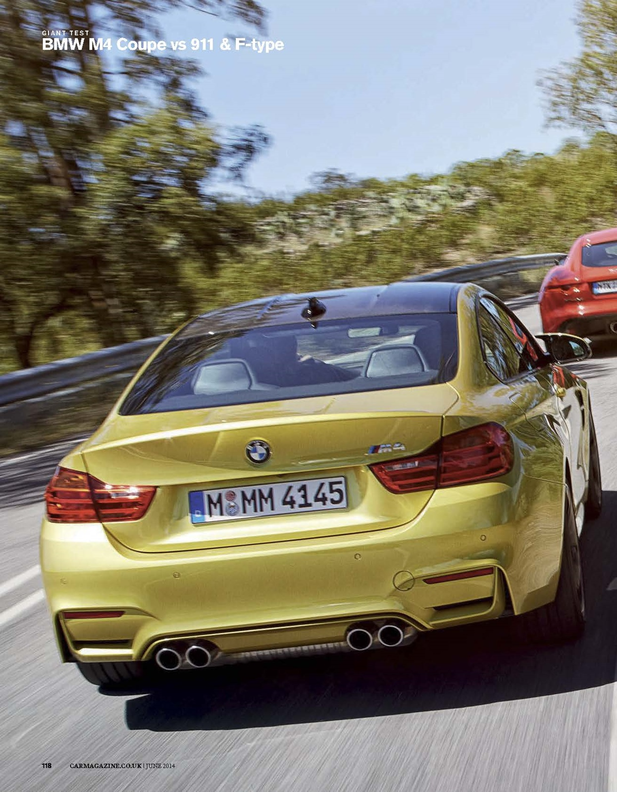 car magazine comparison test: m4 vs 911s vs f-type s (scans)