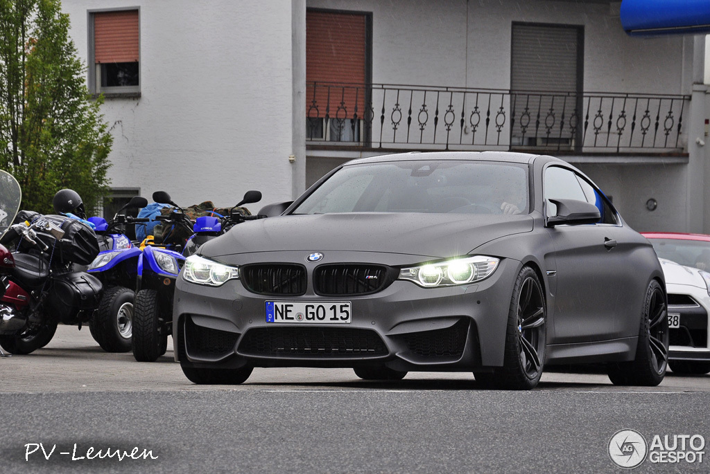 Bmw M4 In Frozen Gray Matte With Smoked Lights