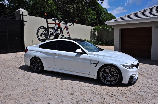 How To Love Your M And Bicycle At The Same Time - Bmw 335i bike rack