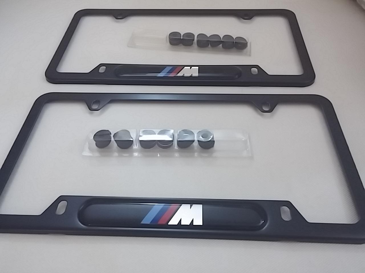 SOLD: BMW M Logo License Plate Frames