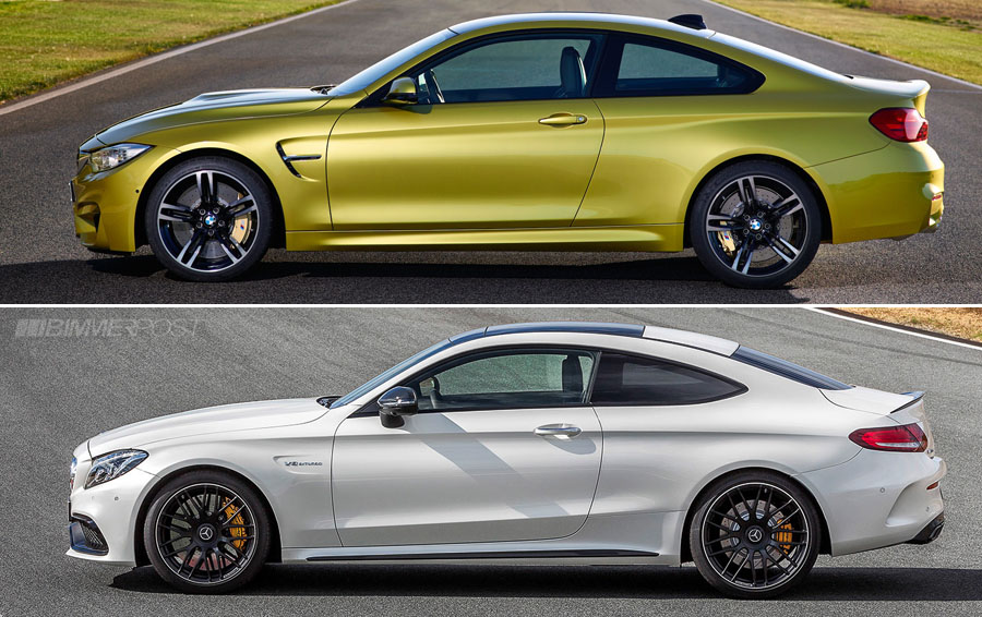 Bmw m4 coupe vs mercedes amg c63 s coupe photo comparison - Bmw M4 Vs Mercedes Amg C63 S Coupe Visual Comparison