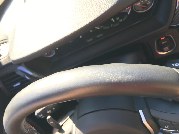 Steering Wheel Leather Cracking A Bit