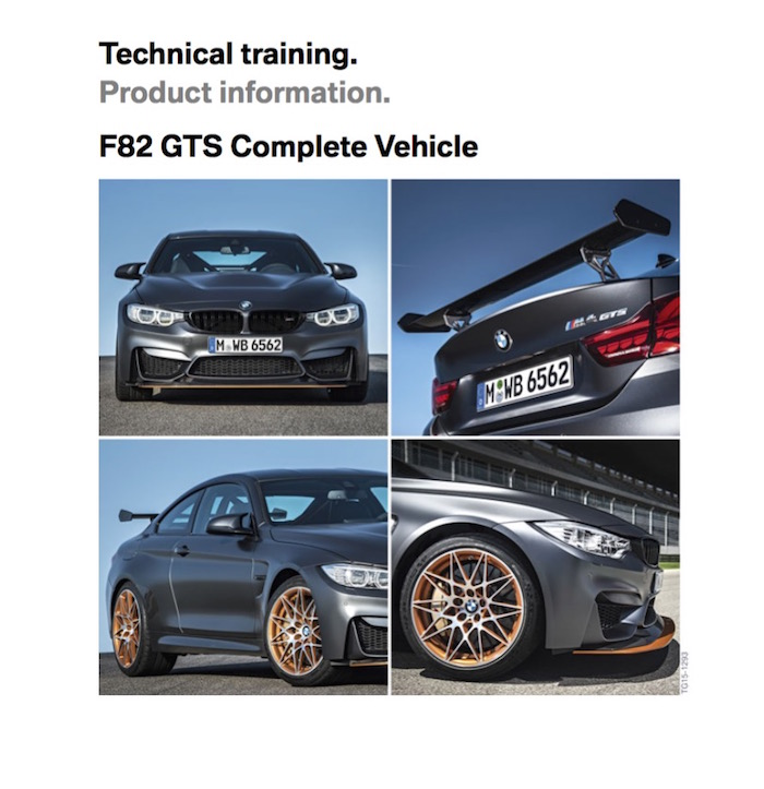 m4 gts complete car technical training production information guide
