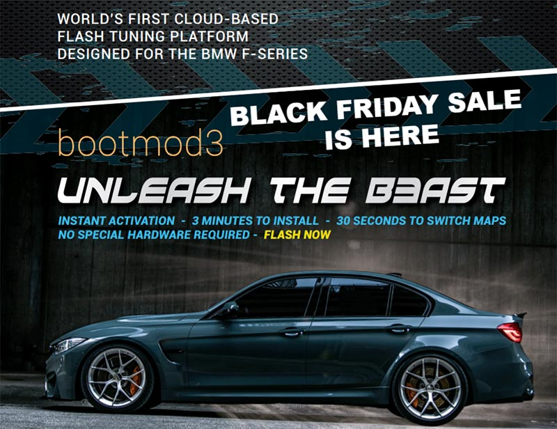 CYBER Monday BOOTMOD3 @ www n54tuning com - 15% OFF + FREE