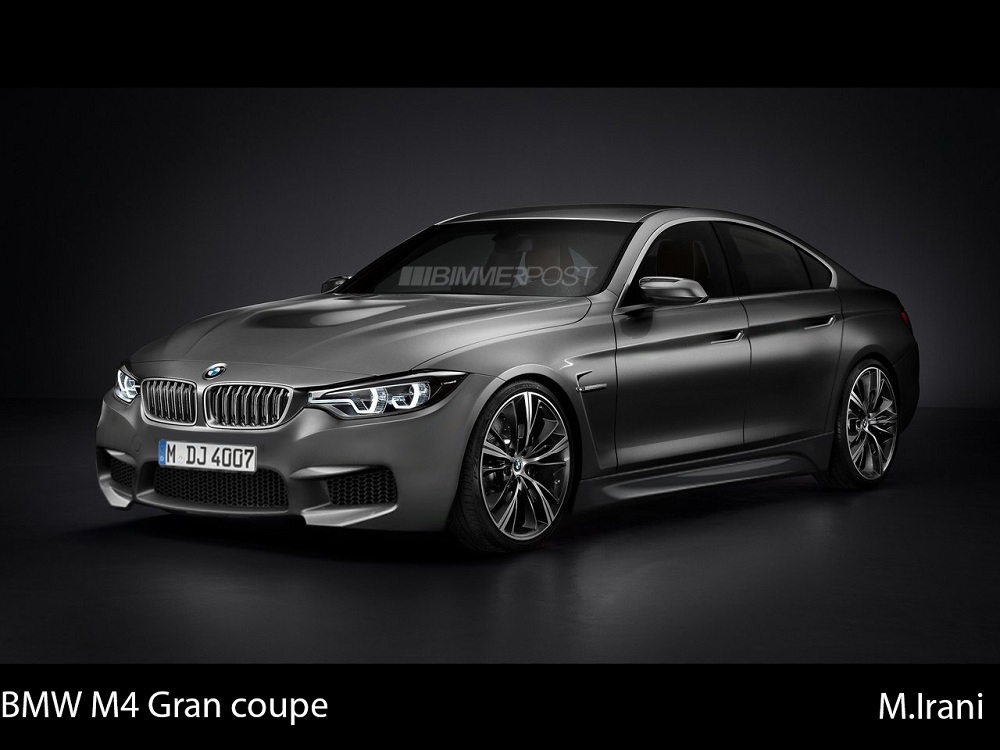 bmw 4 series m4 gran coupe renders. Black Bedroom Furniture Sets. Home Design Ideas
