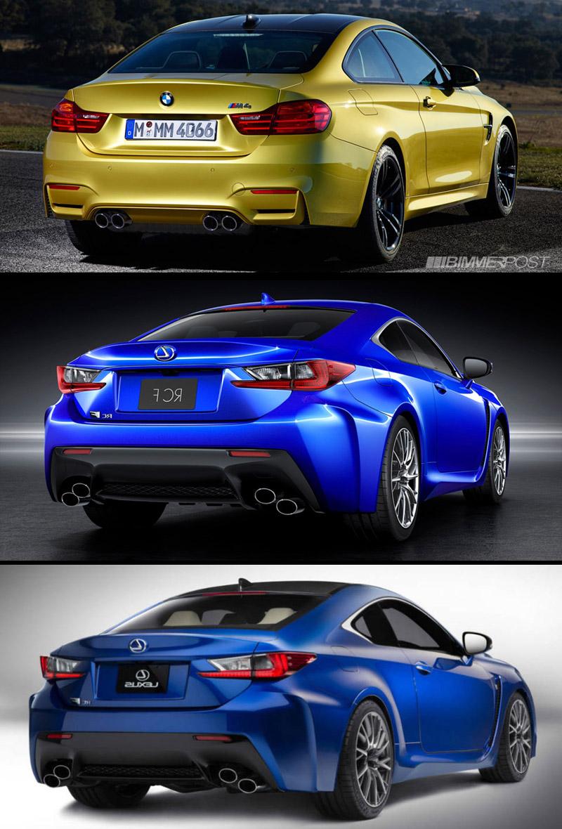 Lexus RC F vs BMW M4 side by side pics - ClubLexus - Lexus Forum ...