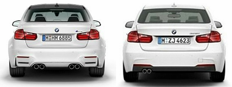 m3 and m4 coupe compared side by side with the 3 sedan and 4 coupe. Black Bedroom Furniture Sets. Home Design Ideas
