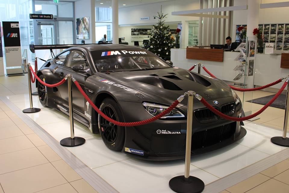 m6 gt3 on display at bmw 39 s factory dealership in munich. Black Bedroom Furniture Sets. Home Design Ideas