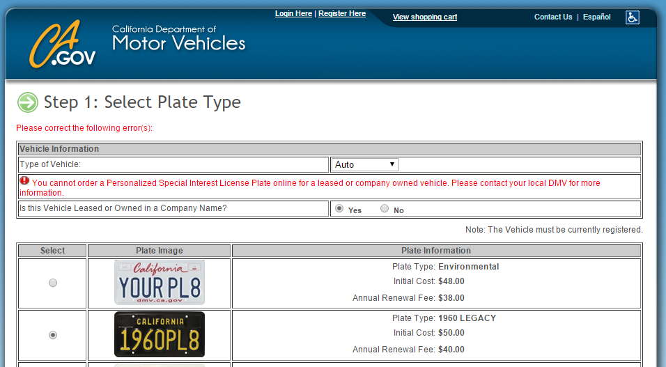 Can You Get Personalized Plates On A Leased Car