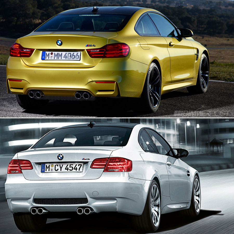 comparison f82 m4 versus e92 m3 coupe updated with real life pics. Black Bedroom Furniture Sets. Home Design Ideas