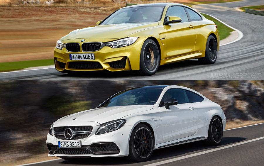 BMW M4 vs Mercedes-AMG C63 S Coupe visual comparison